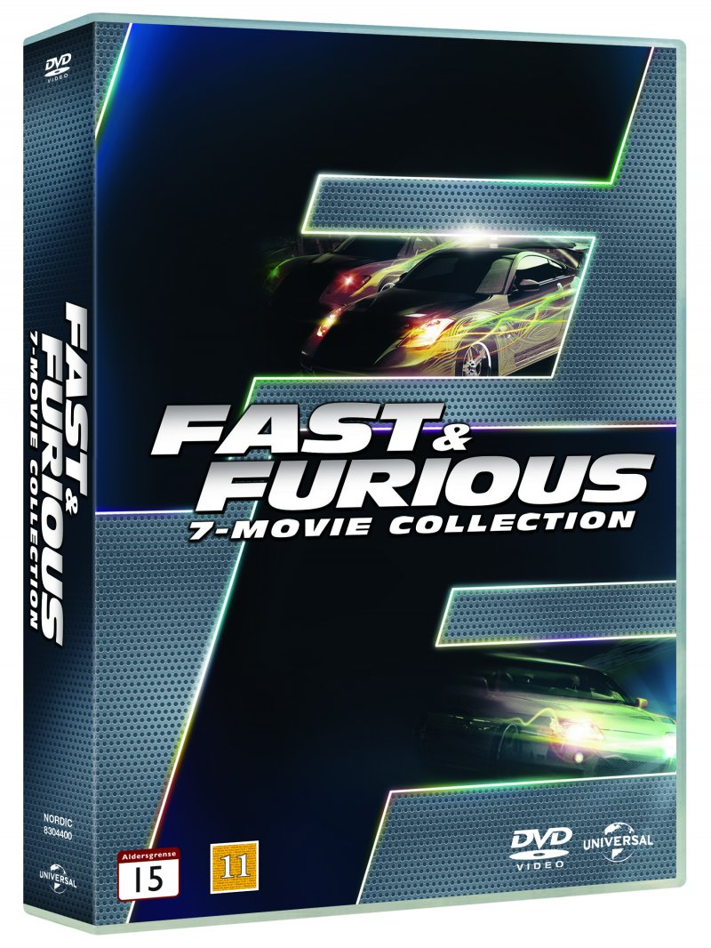 fast and furious 1 7 box set dvd film. Black Bedroom Furniture Sets. Home Design Ideas