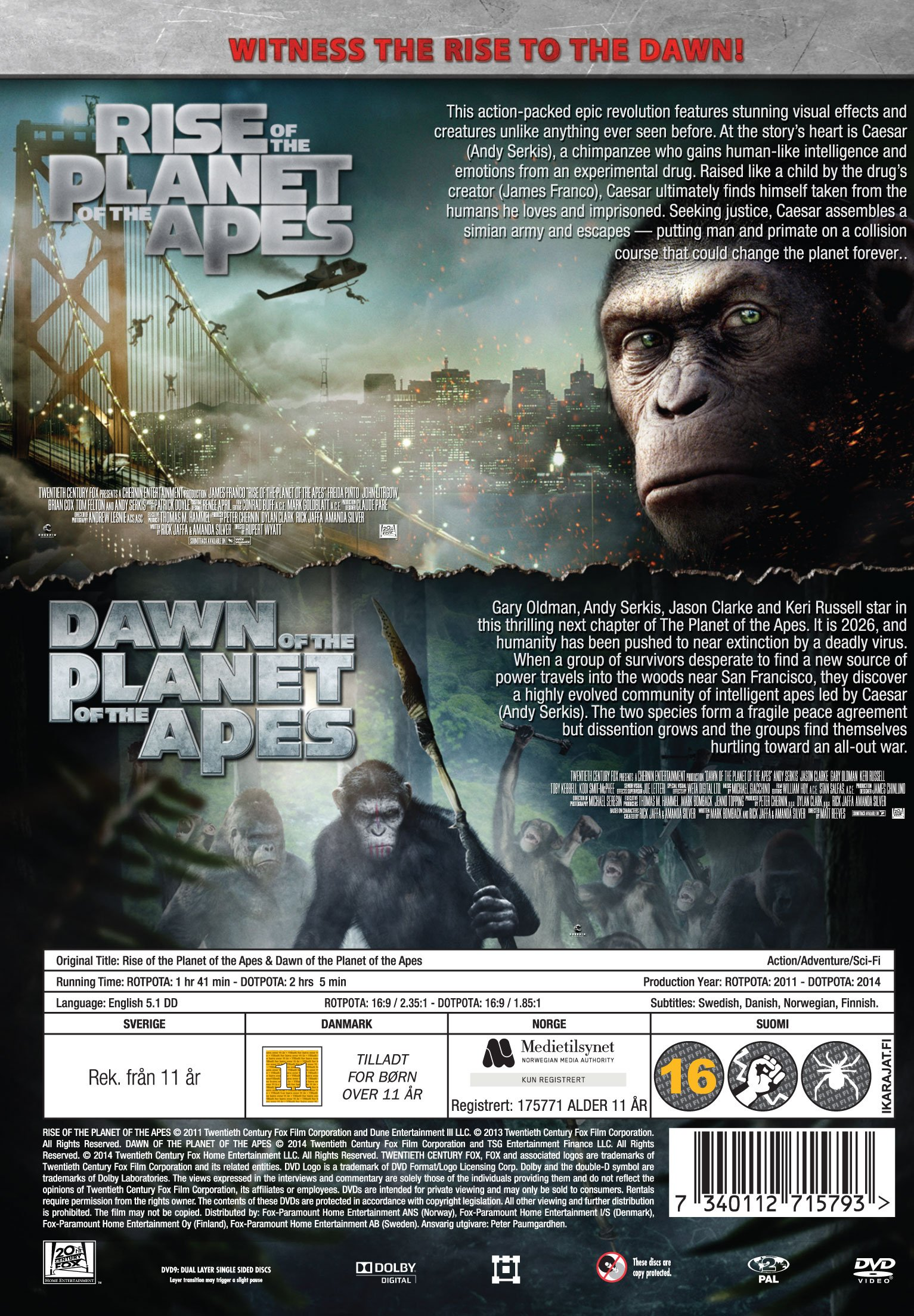 Rise Of The Planet Of The Apes // Dawn Of The Planet Of ...