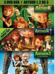 arthur og minimoyserne // arthur og maltazars hævn // arthur 3 - de to verdener - DVD