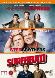 superbad // pineapple express // step brothers - DVD