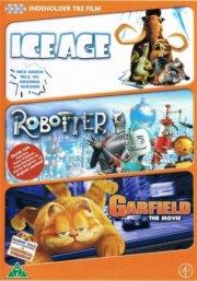 ice age / robotter / garfield the movie - DVD