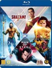 wonder woman / shazam / aquaman / man of steel - dc comics movie collection - Blu-Ray