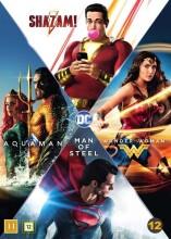 wonder woman / shazam / aquaman / man of steel - dc comics movie collection - DVD