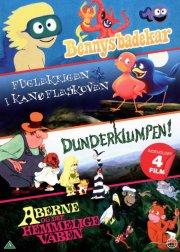 bennys badekar // fuglekrigen i kanøfleskoven // dunderklumpen // aberne og det hemmelige våben - DVD