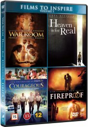 heaven is for real // war room // courageous // fireproof - DVD