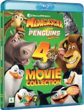 madagascar 1-3 inkl pingvinerne - Blu-Ray