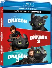 sådan træner du din drage 1-3 / how to train your dragon 1-3 - Blu-Ray