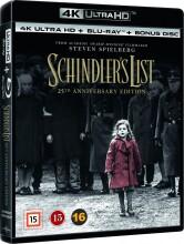 schindlers liste / schindler's list - 25 års jubilæumsudgave - 4k Ultra HD Blu-Ray