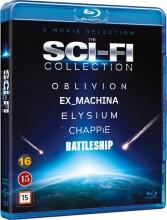 elysium // oblivion // ex_machina // chappie // battleship - Blu-Ray