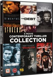the girl with the dragon tattoo // the equalizer // blackhat // vantage point // the debt // closed circuit - DVD