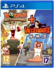 worms battlegrounds + worms wmd double pack - PS4