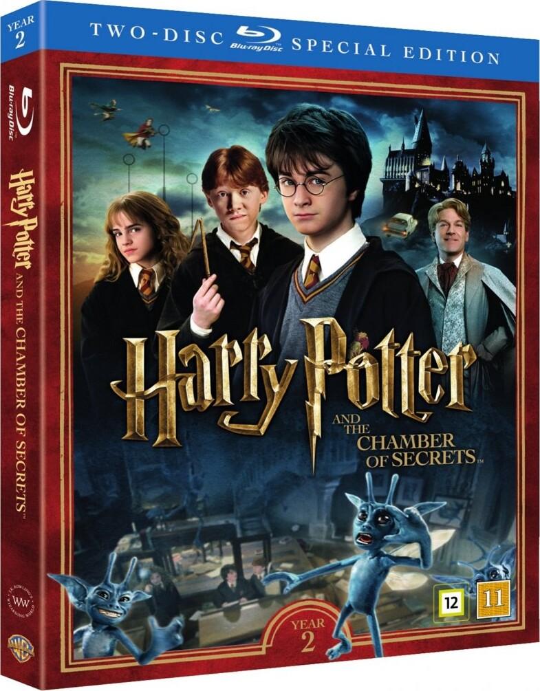 harry potter og hemmelighedernes kammer dvd