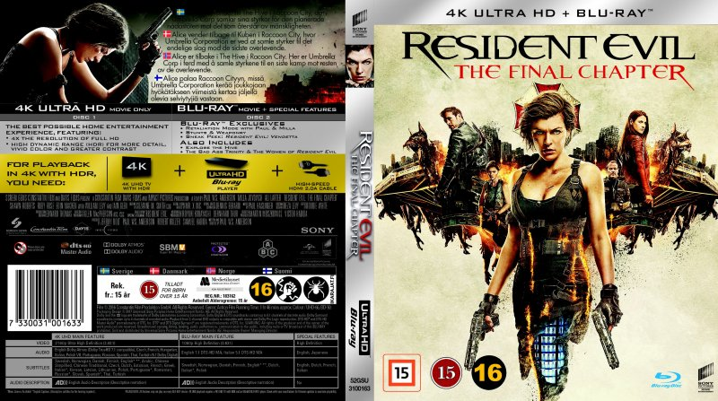 Resident evil 6 the final chapter 4k ultra hd blu ray film - Resident evil final chapter 4k ...