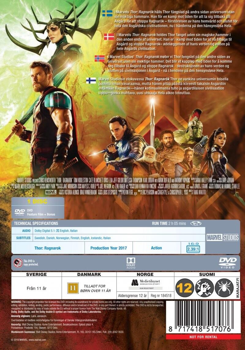Thor 3 Dvd